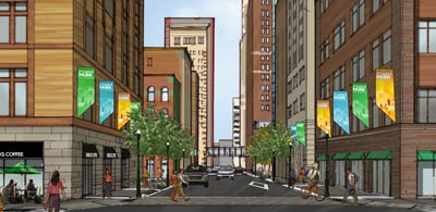 Rendering of Wood Street Project 2010