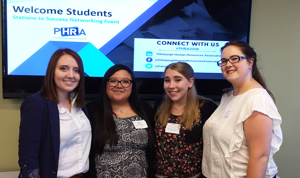 Pictured are HR students at the PHRA Stations to Success Event. Photo submitted by Sandy Mervosh.