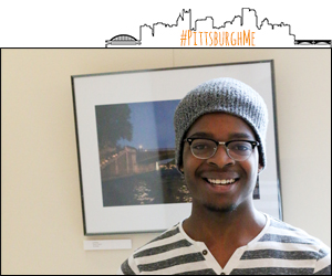 Pictured is Tyrone Smith, a photojournalism major at Point Park. | Photo by Victoria A. Mikula