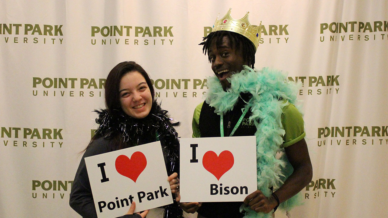 Pictured are incoming Point Park students at Admitted Students Day. Photo by Felicia McKinney