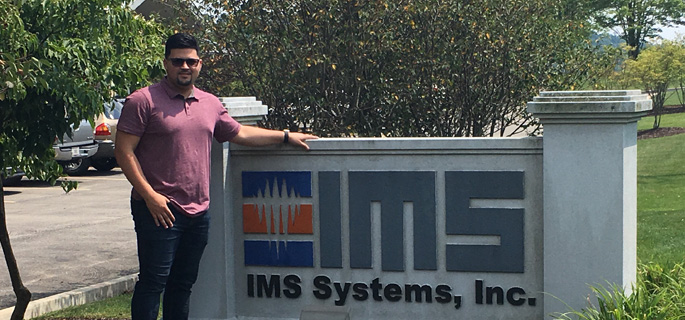 Pictured is Angel Melendez, electrical engineering technology alumnus and service engineer for IMS Systems, Inc. | Photo submitted by Melendez