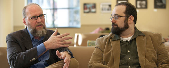 Pictured are Associate Professors Robert McInerney, Ph.D., and Brent Robbins, Ph.D.