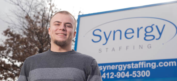 Pictured is Chad Sanders, human resource management alumnus and  information technology recruiter for Synergy Staffing. | Photo by Chris Rolinson
