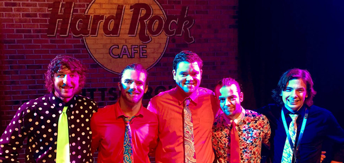 Pictured are Chase the Barons at Hard Rock Cafe Pittsburgh. | Photo by Hard Rock Cafe Pittsburgh staff