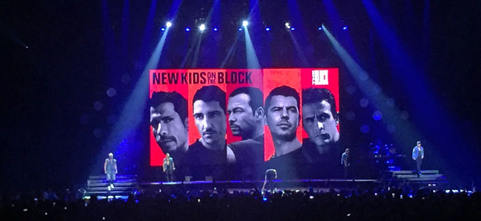Pictured is New Kids on the Block on stage at PPG Paints Arena in Pittsburgh. | Photo by Amanda Dabbs