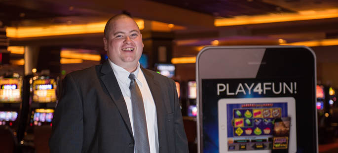 Pictured is Robby Bell, a 2011 SAEM alumnus and marketing specialist for the Rivers Casino. | Photo by Chris Squier