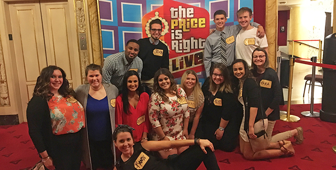 Pictured are SAEM students at the Price is Right show in Pittsburgh. | Photo submitted by Jevin Fluegel