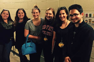 Pictured are SAEM students backstage at the Shania Twain concert. | Photo submitted by Ed Traversari
