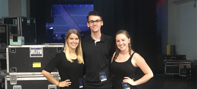 Pictured left to right at the Shawn Mendes concert are SAEM students Julie Bower, Jaron Andrechak and Samantha Exler. | Photo submitted by Jaron Andrechak