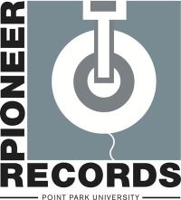Pictured is the logo for Pioneer Records, the recording studio managed by the sports, arts and entertainment department at Point Park.