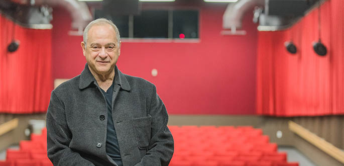 Pictured is Martin Schiff, visiting artist in the Department of Cinema Arts. Photo | Nick Koehler