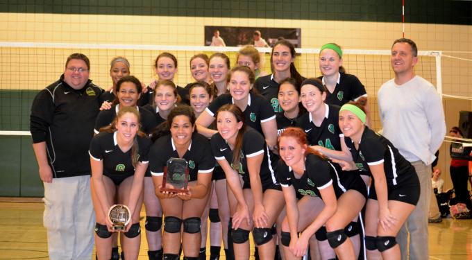 KIAC Volleyball Tournament Champions 2014 -- Point Park Pioneers