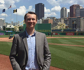 Pictured is Josh Croup, an intern with The Pittsburgh Pirates. Photo | Kelsey Veydt