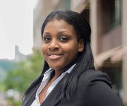 Pictured is M.B.A. alumna Chynna Carter, associate consultant for Highmark. | Photo by Chris Rolinson