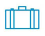 Pictured is a luggage icon.