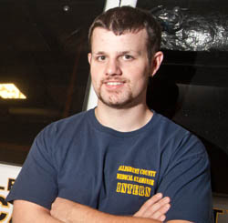 Pictured is forensic sciences major Matt Coleman.