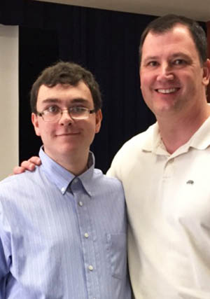 Pictured are education student Timothy Grebeck and Assistant Professor of Special Education Matthew Vogel, Ph.D. | Photo submitted by Vogel