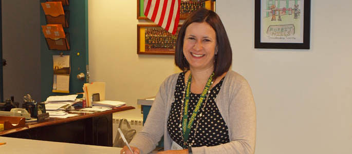 Pictured is Laura Miller, dean of students and librarian for Forest Hills School District and Ed.D. in leadership and administration student at Point Park.