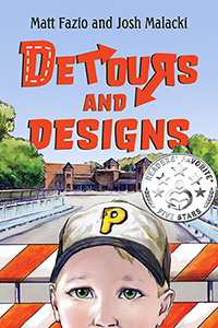 This is the book cover for Detours and Designs by Matt Fazio, Ph.D. and Josh Malacki.