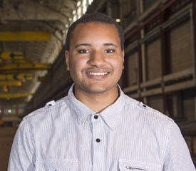 Pictured is Colston Cooper, a 2015 civil engineering technology graduate and engineering technician for Murray Associates, Inc. | Photo by Chris Rolinson