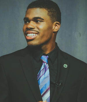 Pictured is Blaine King, NAACP scholarship recipient and broadcast production major. | Photo by Don Noel Ranasinghe