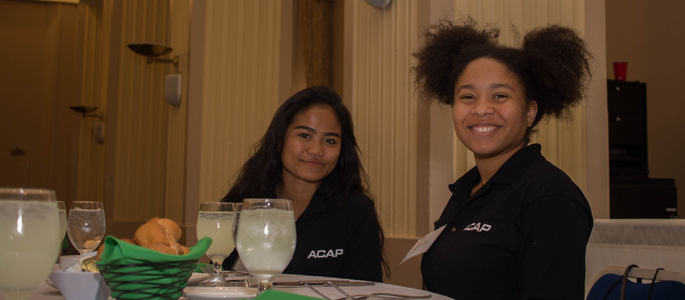 Pictured are high school students at the ACAP 2017 business etiquette workshop and dinner with professionals. | Photo by Annie Brewer