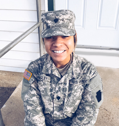 Pictured is Chereese Langley, accounting major and Army National Guard member. | Photo submitted by Langley