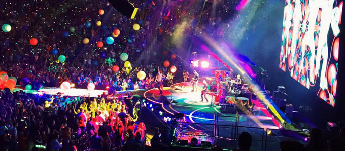 Pictured is Coldplay performing at the CONSOL Energy Center. | Photo by Angela Thomas