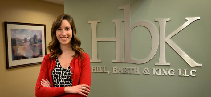 Pictured is 2015 accounting alumna Mariah Jensen, audit associate for Hill, Barth & King. | Photo by Jim Judkis