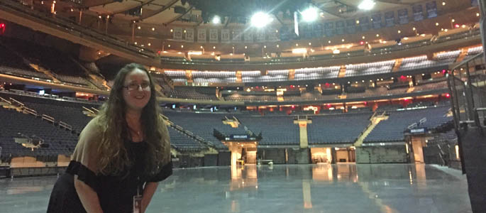 Pictured is SAEM alumna Meredith Savage, VIP services coordinator at Madison Square Garden. | Photo by Jessica Braveman