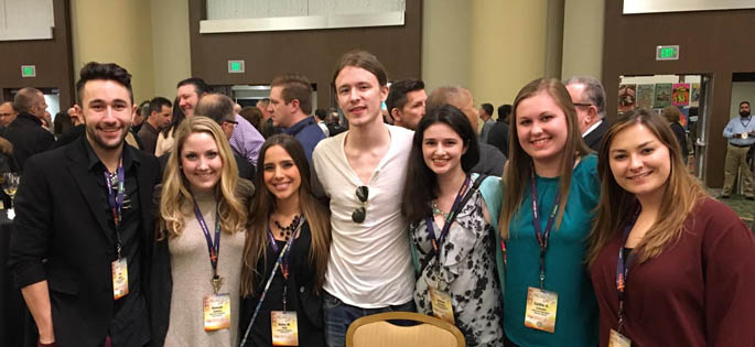 Pictured are Point Park SAEM students at the 2016 Pollstar Live! Music Conference in San Francisco, Calif. | Photo by Ashley Dobransky