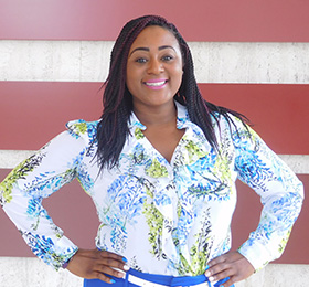 Pictured is MBA alumna Patriece Thompson.