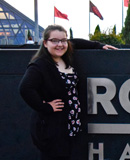 Pictured is SAEM student Alyssa King, visitor services representative for the Rock & Roll Hall of Fame. | Photo by Pete King
