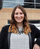 Pictured is Brittany Bishop, SAEM student and new media intern for the Pittsburgh Penguins. | Photo by Olivia Ruk