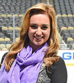 Pictured is Celina Pompeani, TV host for the Pittsburgh Penguins. | Photo by Chris Rolinson