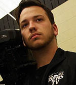 Pictured is Stone Swiess, in-game video producer for the Pittsburgh Penguins. | Photo by Ryan Loew