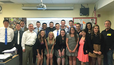 Pictured is the 2014-15 sports, arts and entertainment management intro class at Montour High School. | Photo by April Fisher