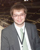 Pictured is SAEM student Sean Dillon, media relations intern for the Pittsburgh Penguins. | Photo by Chris Rolinson
