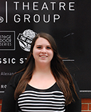 Pictured is SAEM student Sydney Patton, Public Relations, Design, & Special Events Intern for the Gamut Theatre Group. | Photo by Patricia Patton