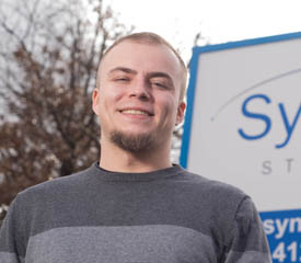 Pictured is Chad Sanders, 2014 human resource management alumnus and information technology recruiter for Synergy Staffing, Inc. | Photo by Chris Rolinson