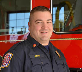 Pictured is Mathew Davis, public administration alumnus and deputy fire chief for Dormont Fire Department. | Photo by Jim Judkis