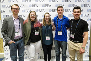 Broadcast majors at the Broadcast Education Association Conference in Las Vegas| Photo by Alex Grubbs