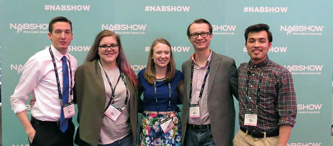 Five Point Park broadcasting students networked with industry professionals and learned from educators from around the world at the Broadcast Education Association annual conference in Las Vegas held April 22-25. Photo | Alex Grubbs