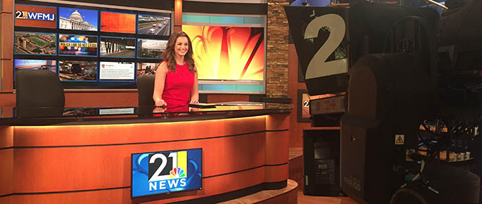 2015 Alumna Caroline Collins is an Anchor and Reporter for