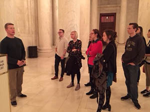 Students tour the Supreme Court Building. Submitted photo