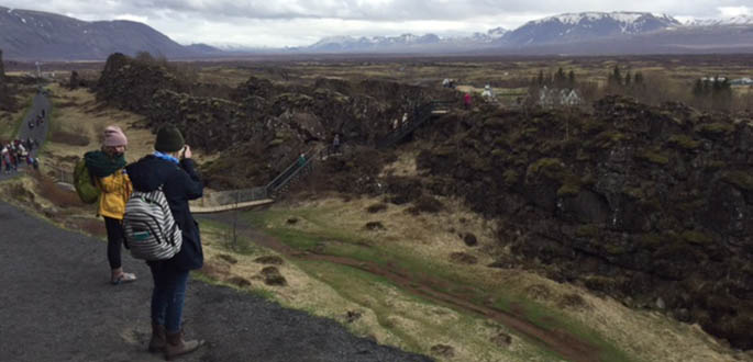 Point Park University students traveled to Iceland and Ireland for the 2017 International Media Trip. Photo | Chloe Jakiela