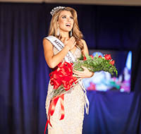 Pictured is alumna Elena LaQuatra, Miss Pennsylvania USA. | Photo by Edwin Shaw