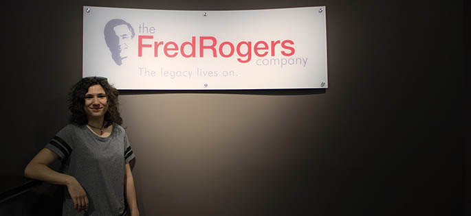 Pictured is Julia Pamies, an intern at The Fred Rogers Company. Photo | Shayna Mendez