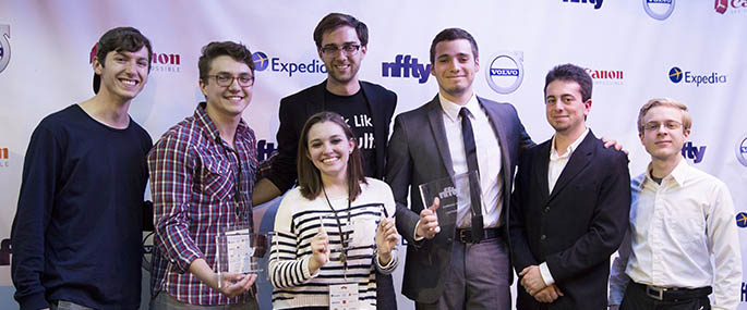 Point Park students and alumni win top prizes at NFFTY. Submitted photo