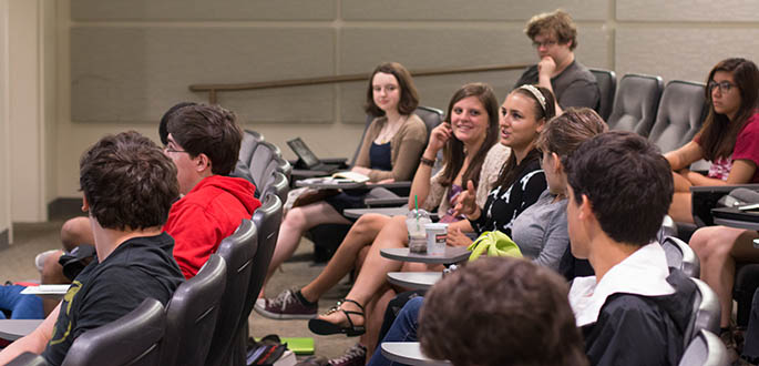 A picture of high school students at the 2015 Screenwriting Camp. Photo | Victoria A. Mikula